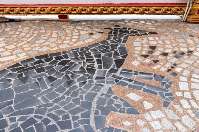 floor mosaic of kangaroo