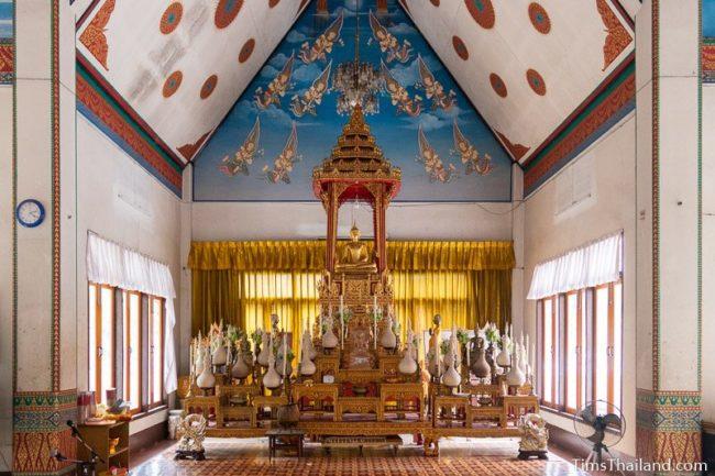 Buddha shrine inside the ubosot