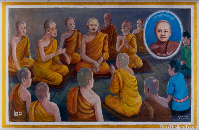 painting of monks