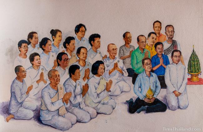 painting of people waiing