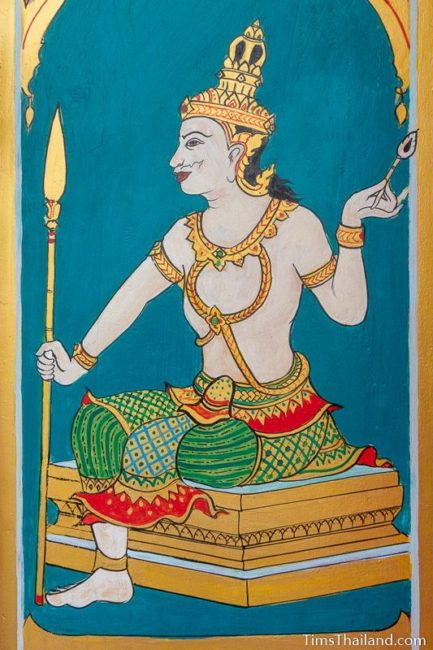 painting of the god Agni