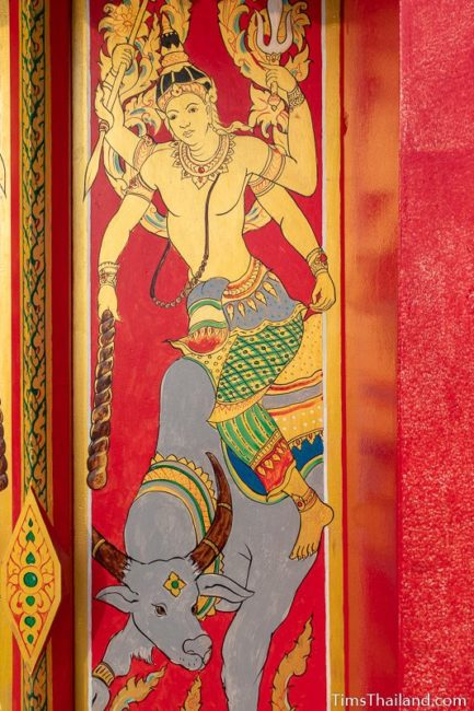 painting of the god Angaraka riding a bull