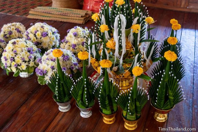 bai sii and floral arrangements
