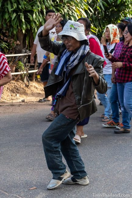 man dancing in a parade