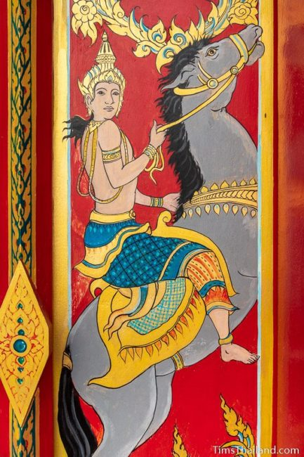 painting of the god Chandra riding a horse