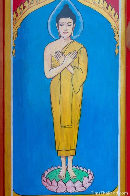 painting of the Friday Buddha