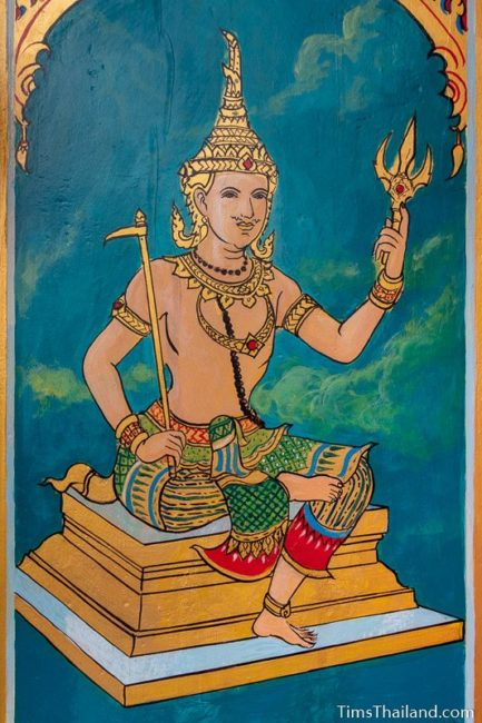 painting of the god Indra