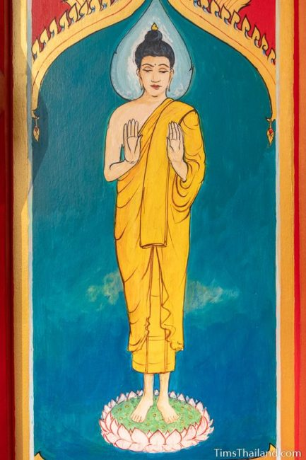 painting of the Monday Buddha
