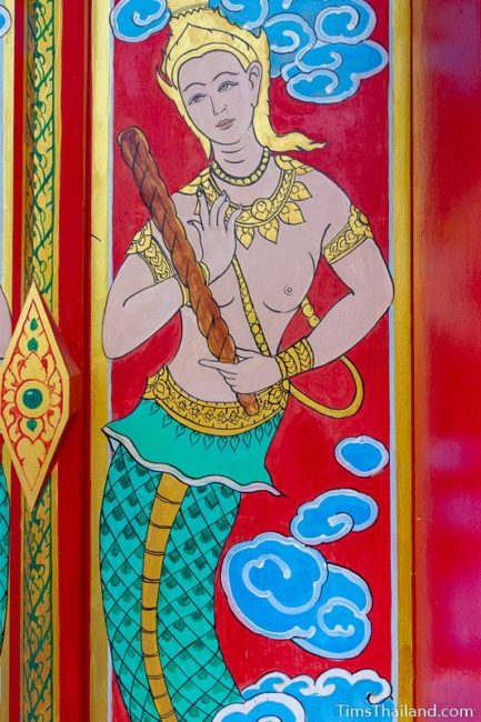 painting of the god Rahu