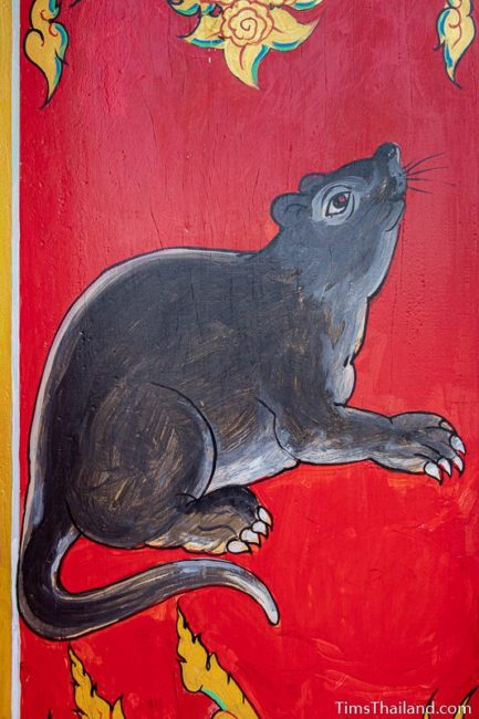 painting of a rat