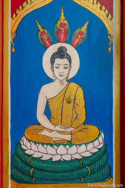 painting of the Saturday Buddha
