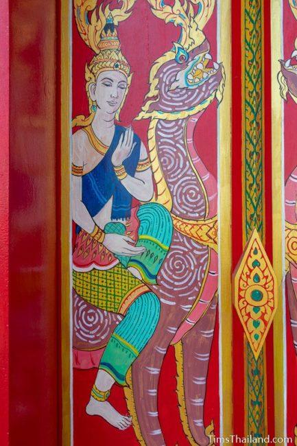 painting of the god Surya riding a kraisorn rajasri