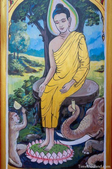 painting of the Wednesday nighttime Buddha