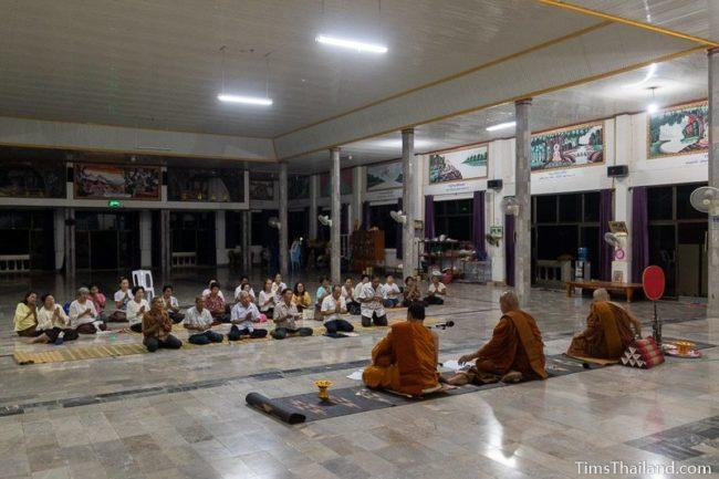 monks giving a sermon