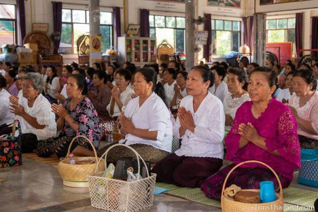 people listening to sermon