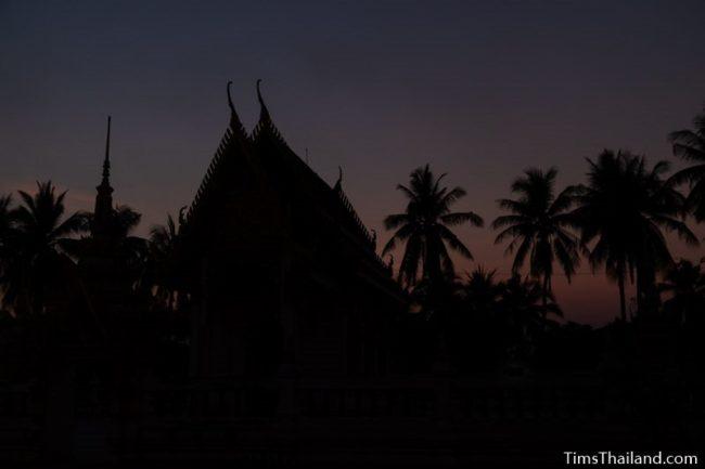 sunset behind ubosot