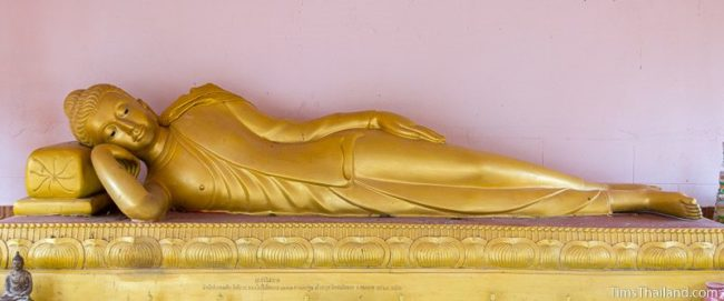 Buddha in Dreaming posture with feet side-by-side