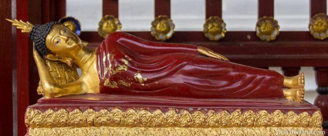 standard reclining Buddha preaching to Asurindarahu posture