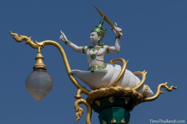 streetlight with sang thong from sin sai story on top