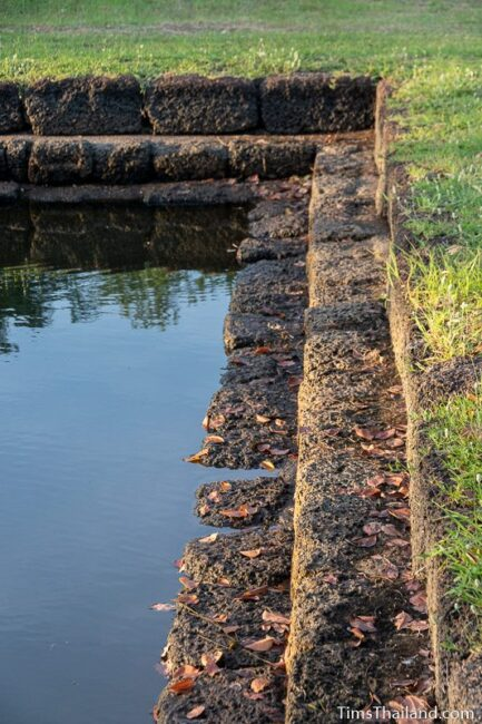 laterite steps along sacred pond