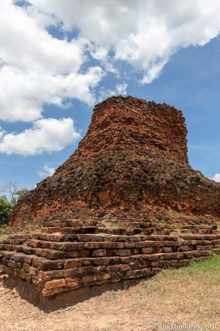 ruined brick stupa