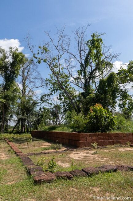 laterite wall and line of laterite