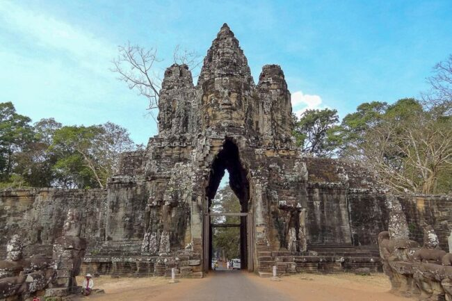 southern gate of Angkor Thom temple