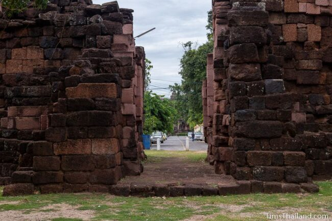 view of Prasat Phimai seen through northern gate