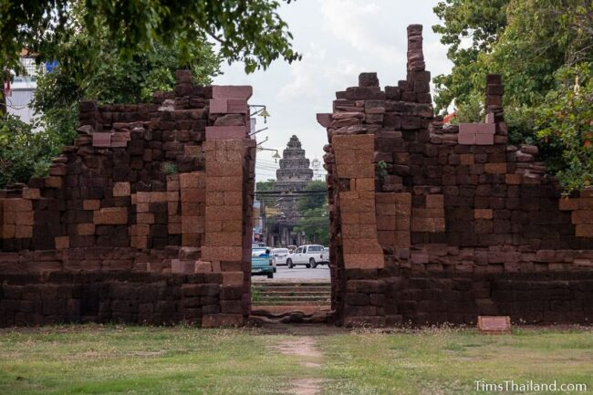 view of Prasat Phimai from southern gate
