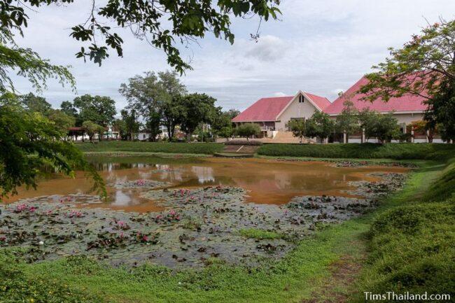 Phimai National Museum building alongside baray