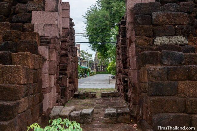 view of Prasat Phimai seen through western gate