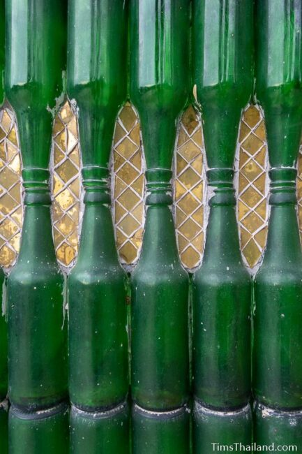 close up of bottle wall