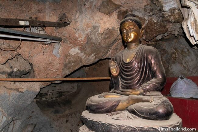 Buddha in cave