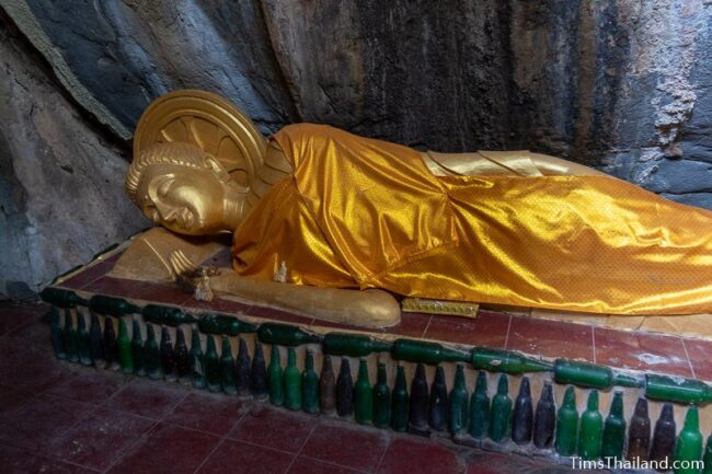 reclining Buddha in entering Nirvana posture