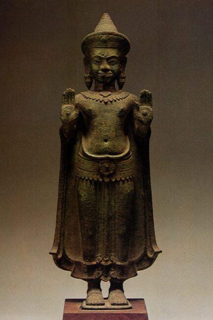 Buddha with both hands raised