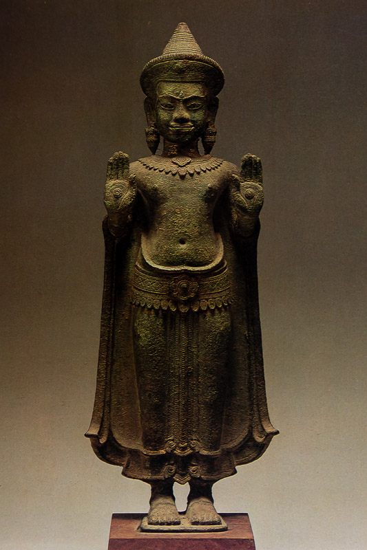 Buddha with both hands raised