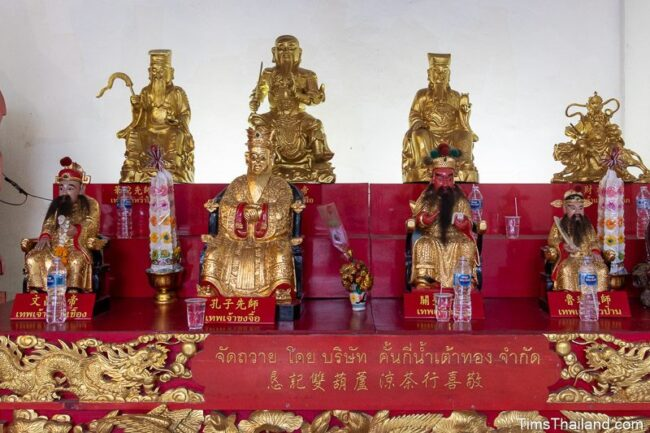 altar with eight Chinese gods