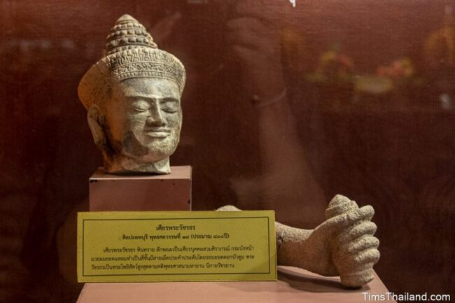 head and hand of Bodhisattva in the museum