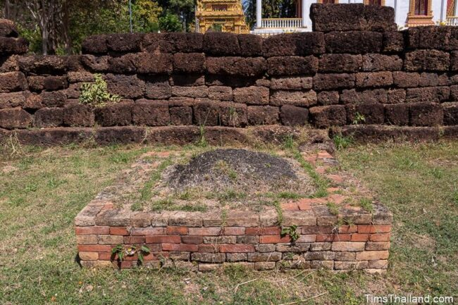 base of small stupa