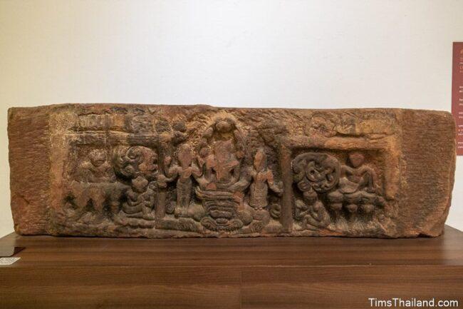 lintel with three Bodhisattvas