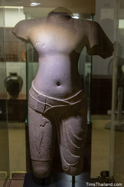 headless statue of Vishnu