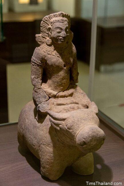 statue of Yama riding a buffalo