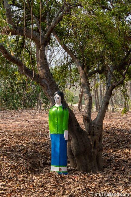 woman guardian under a tree