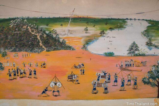 mural of rocket festival