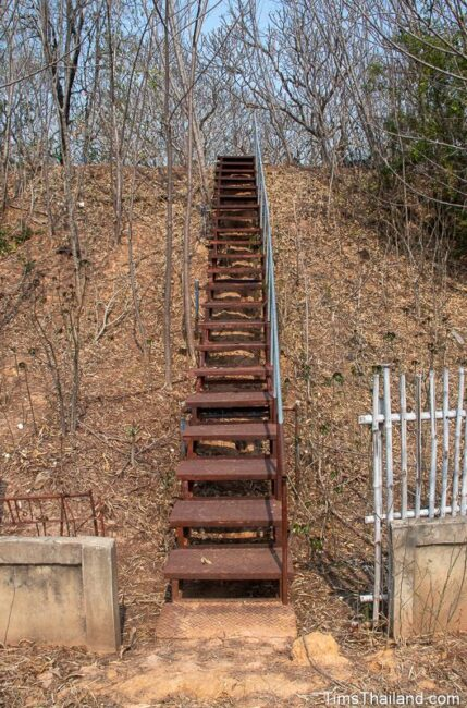 stairs up mound