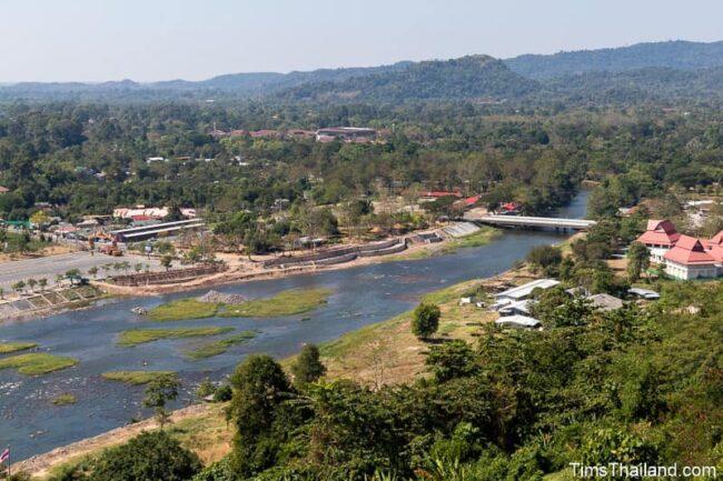 view of river below dam