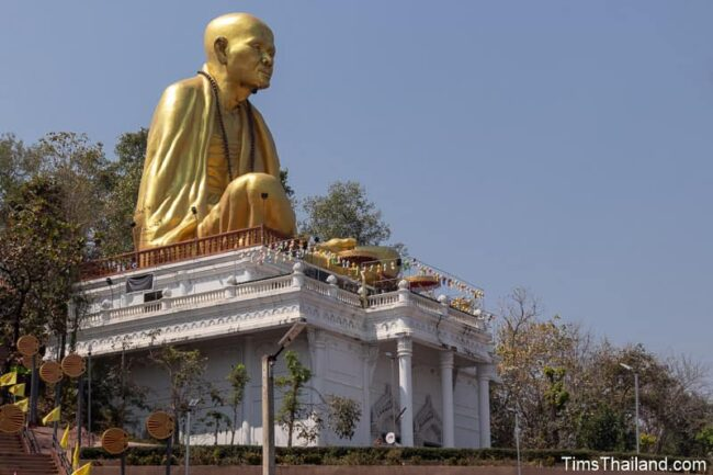 large statue of monk