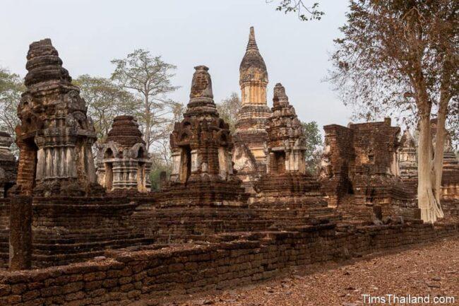 many ancient stupas