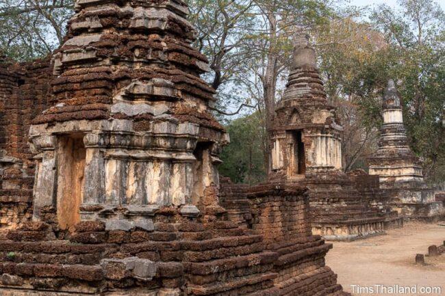 several ancient stupas