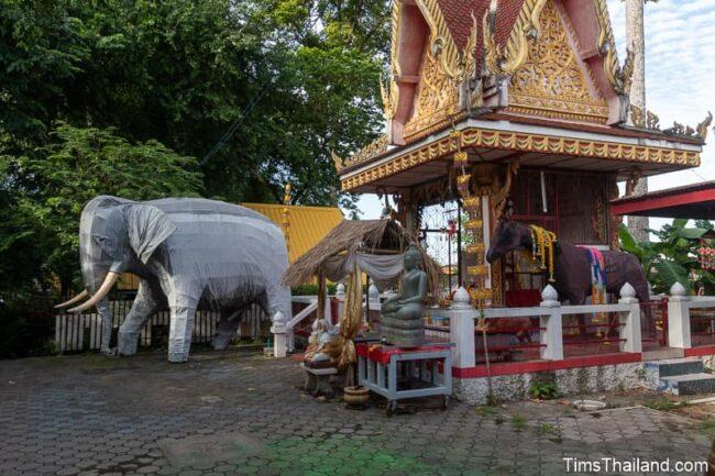 shrine with elephant and horse